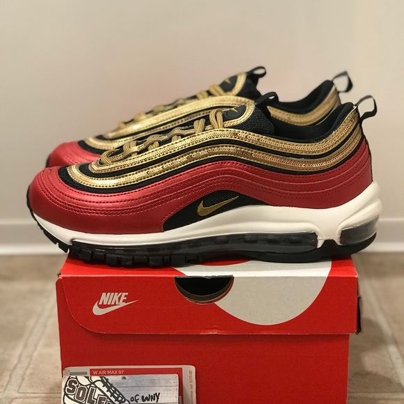 air max 97 gold and red